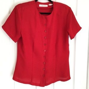 CHAUS Top Red Size 8